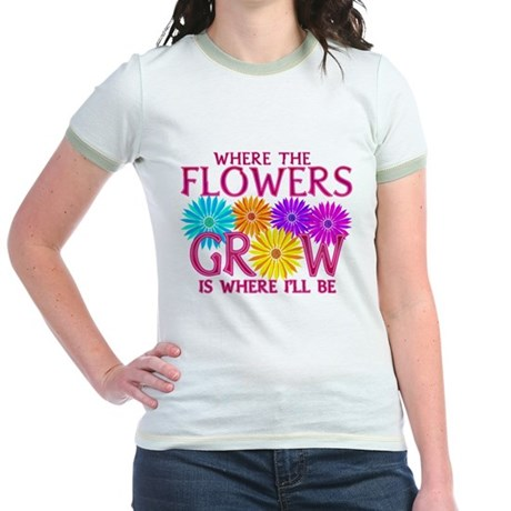 Where Flowers Grow Jr. Ringer T-Shirt