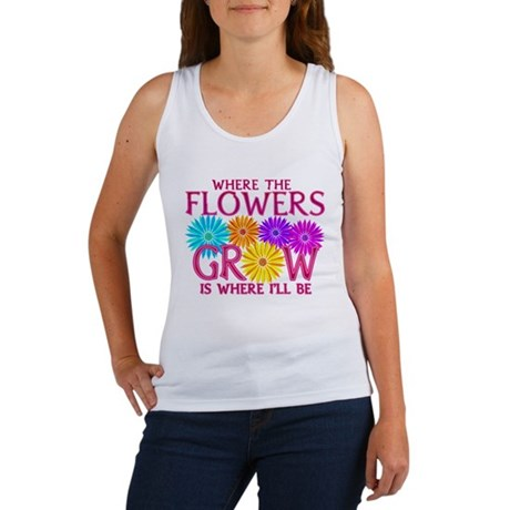 Where Flowers Grow Women's Tank Top