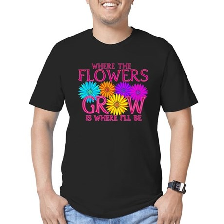 Where Flowers Grow Men's Fitted T-Shirt (dark)