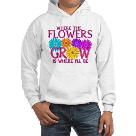 Where Flowers Grow Hooded Sweatshirt