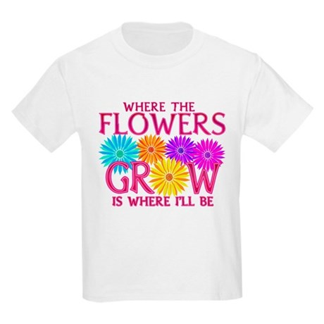 Where Flowers Grow Kids Light T-Shirt