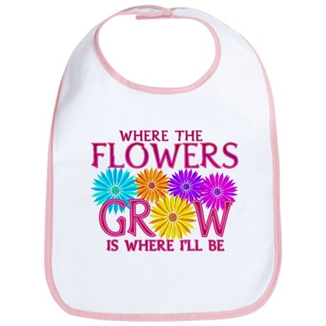 Where Flowers Grow Bib