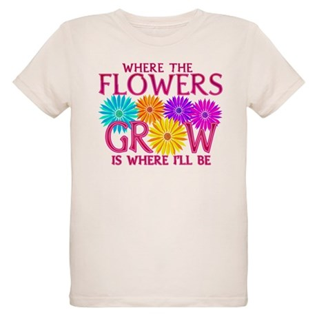 Where Flowers Grow Organic Kids T-Shirt