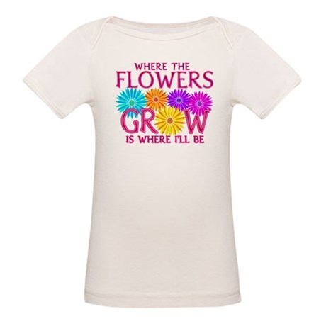 Where Flowers Grow Organic Baby T-Shirt