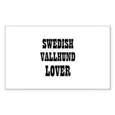 SWEDISH VALLHUND LOVER Rectangle Decal