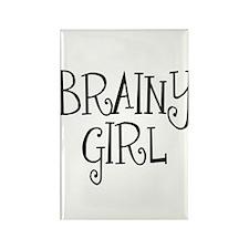 Brainy Girl Rectangle Magnet