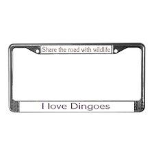 """I Love Dingoes"" License Plate Frame"