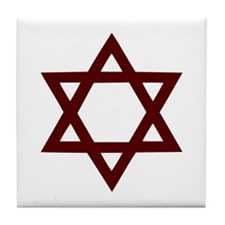 Star of David - Judaism Tile Coaster