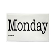 Monday - On a Rectangle Magnet (10 pack)