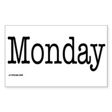 Monday - On a Rectangle Decal
