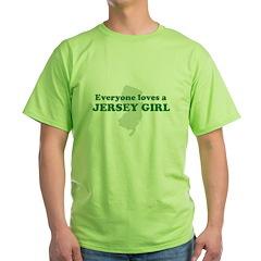 Everyone Loves A Jersey Girl Green T-Shirt