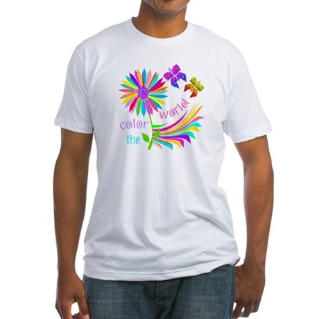 Color the World Fitted T-Shirt