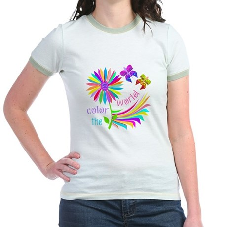 Color the World Jr. Ringer T-Shirt
