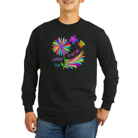 Color the World Long Sleeve Dark T-Shirt