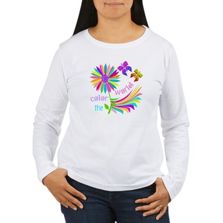 Color the World Women's Long Sleeve T-Shirt