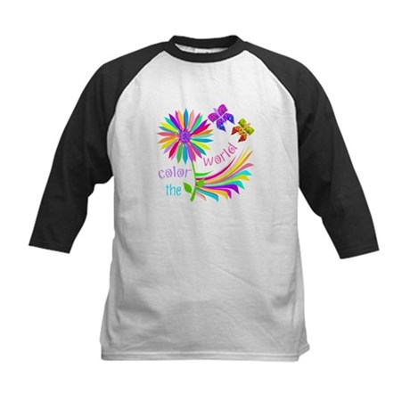 Color the World Kids Baseball Jersey