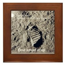 Apollo 11 Bootprint Framed Tile