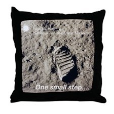 Apollo 11 Bootprint Throw Pillow