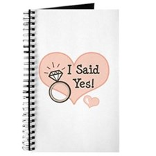 I Said Yes Bride To Be Journal