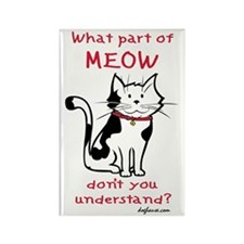 Meow Rectangle Magnet (10 pack)