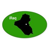 iRaq Oval Sticker (10 pk)