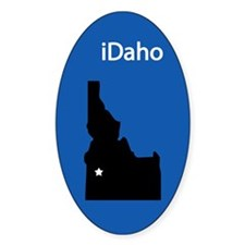 iDaho Oval Sticker (50 pk)