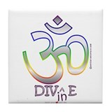 Cool Peace love dive Tile Coaster