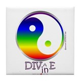 Cute Peace love dive Tile Coaster