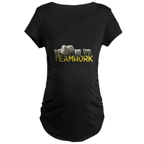 Teamwork! Maternity Dark T-Shirt