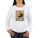 WOE Red Bald Women's Long Sleeve T-Shirt