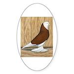 WOE Red Bald Oval Sticker (50 pk)