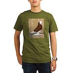 WOE Red Bald Organic Men's T-Shirt (dark)