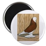 "WOE Red Bald 2.25"" Magnet (10 pack)"