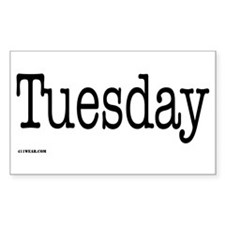 Tuesday - On a Rectangle Decal
