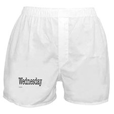 Wednesday - On a Boxer Shorts