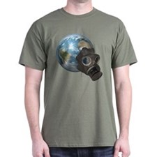 Gas Mask Earth T-Shirt