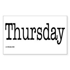 Thursday - On a Rectangle Decal