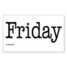 Friday - On a Rectangle Sticker 10 pk)