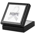 Pearl Ribbon Hope Keepsake Box