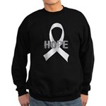 Pearl Ribbon Hope Sweatshirt (dark)