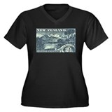 New Zealand Pictorials Women's Plus Size V-Neck Da