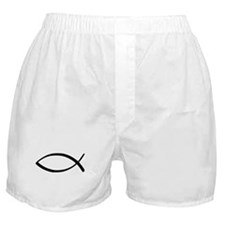 Jesus Fish Boxer Shorts