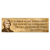 Error Needs Government Bumper Sticker (10 pk)