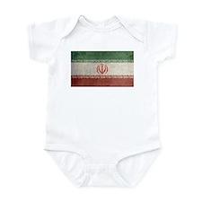 Vintage Iran Flag Infant Bodysuit