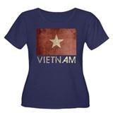 Vintage Vietnam Flag Women's Plus Size Scoop Neck