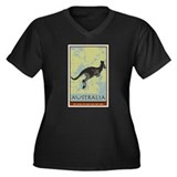 Australia II Women's Plus Size V-Neck Dark T-Shirt