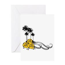 Hibiscus & Palms Greeting Card