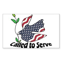 American Pride Rectangle Sticker 50 pk)