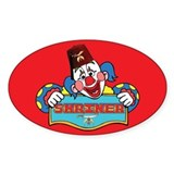 Proud Shriner Clown Decal Oval Decal