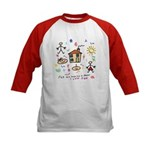 4 my mommy and daddy Kids Baseball Jersey